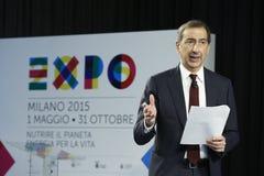 CEO de Giuseppe Sala dos termas 2015 da expo Imagens de Stock Royalty Free