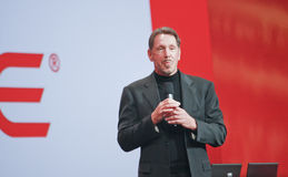 CEO de Oracle Larry Ellison Imagen de archivo