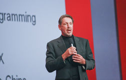 CEO de Oracle Larry Ellison imagenes de archivo