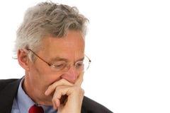 CEO deprimido Foto de archivo libre de regalías