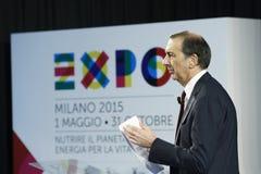 CEO di Giuseppe Sala della stazione termale 2015 dell'Expo Fotografie Stock