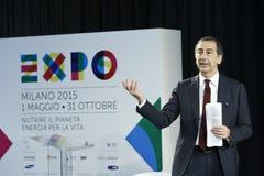 CEO di Giuseppe Sala della stazione termale 2015 dell'Expo Fotografia Stock Libera da Diritti
