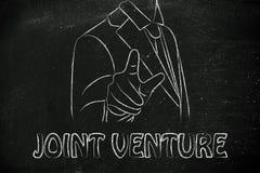 Ceo eller affärsman som framåtriktat pekar, med handstilskarven ven Arkivbild