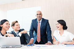 CEO explaining his vision in business meeting Stock Photography