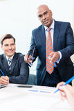 CEO explaining his vision in business meeting Royalty Free Stock Photography