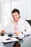 CEO - Geschäftsmann im Büro Stockbilder