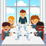 CEO giving a speech to business executive team Royalty Free Stock Photo