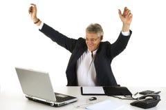 CEO heureux Images libres de droits