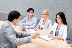 CEO holds a business meeting Stock Photos