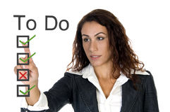 ceo korporacyjny robi żeńskiej liście fotografia stock