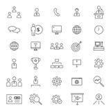 CEO 30 Kreskowe ikony Obraz Stock