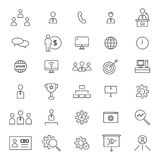 CEO 30 Line Icons. Simple set of 30 line icons for CEO Stock Image