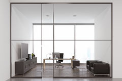 CEO office with armchairs and TV Royalty Free Stock Photos