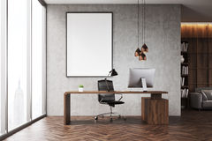 CEO office with bookcase Stock Image