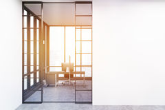 CEO office entrance, toned Royalty Free Stock Photo