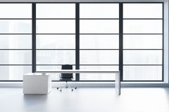 CEO office panoramic window Royalty Free Stock Photography