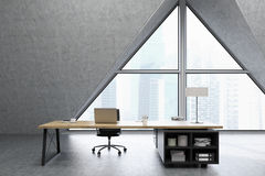 CEO office with triangular window Stock Photography