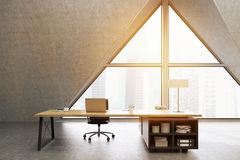 CEO office with triangular window, toned Stock Image