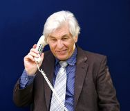 CEO On The Telephone Stock Photo