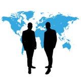 CEO przed światową mapą Zdjęcie Stock