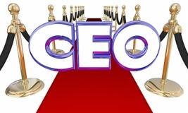 CEO Red Carpet Event do diretor geral Ilustração Royalty Free