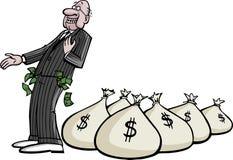 CEO riche illustration stock