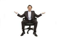 CEO sitting Royalty Free Stock Images