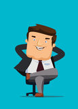 CEO sitting in a chair with big idea  illustration Stock Images