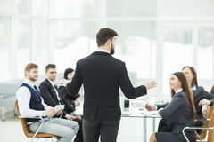 Free CEO Speaks At The Workshop Business Team In A Modern Office Royalty Free Stock Photo - 88456905
