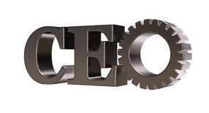 Ceo tag Royalty Free Stock Photography