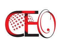 Ceo. Text with black and red colors Royalty Free Stock Image