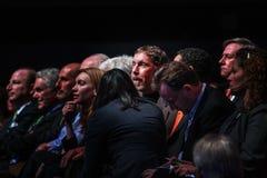 CEO van het centrum van Oracle Larry Ellison met hoogste bedrijfbeheer Royalty-vrije Stock Foto
