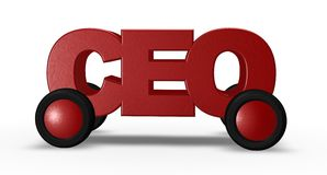 Ceo on wheels Royalty Free Stock Photos