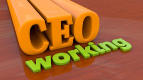 CEO working Royalty Free Stock Photography