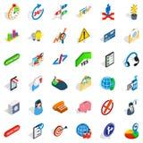 Ceos icons set, isometric style. Ceos icons set. Isometric set of 36 ceos vector icons for web isolated on white background Stock Images