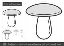 Cep mushroom line icon. Stock Images