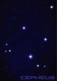 Cepheus星座 库存图片