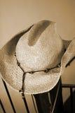 cepia kowbojski kapelusz obraz royalty free