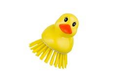 Cepillo amarillo del pato Foto de archivo libre de regalías