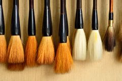 Cepillo aseado para la pintura china Fotos de archivo libres de regalías