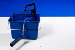 Cepillo azul del rodillo, compartimiento Imágenes de archivo libres de regalías