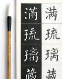 Cepillo chino de la caligrafía fotografía de archivo libre de regalías