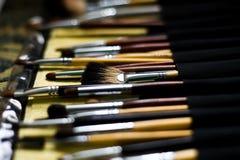 Cepillo cosmético Imágenes de archivo libres de regalías