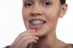 Cepillo de dientes imagen de archivo