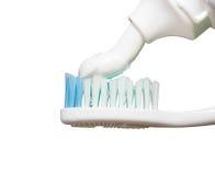 Cepillo de dientes con goma Imagen de archivo