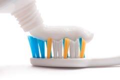 Cepillo de dientes, crema dental, tubo Imágenes de archivo libres de regalías