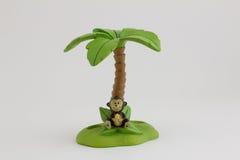 Cepillo de dientes de la isla del mono en el fondo blanco Fotografía de archivo libre de regalías