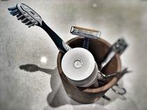 Cepillo de dientes una crema dental Fotografía de archivo