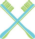 Cepillo de dientes verde Imagen de archivo libre de regalías