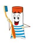 Cepillo de dientes y crema dental para un cuidado dental imagen de archivo libre de regalías